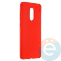 Накладка силиконовая Carbon 360 на Xiaomi Redmi 5 красная