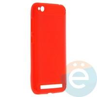 Накладка силиконовая Carbon 360 на Xiaomi Redmi 5A красная