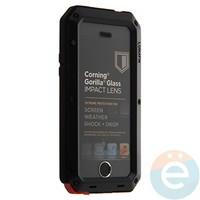 Противоударный чехол Lunatik на iPhone 5/5s чёрный