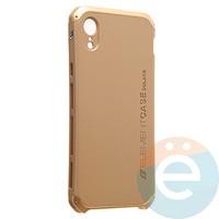 Накладка противоударная Element Case на Apple iPhone XR золотистая