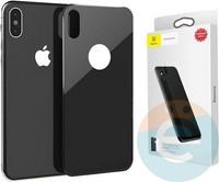 Защитное стекло Baseus SGAPIPH61-BM01 для iPhone Xr на заднюю часть чёрное