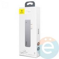 USB-концентратор Baseus Thunderbolt C+ Dual Type-C на USB3.0/HDMI/Type-C CAHUB-B0G серый