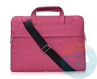 Сумка для ноутбука (13 Дюймов) тканевая с ручками розовая