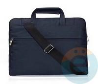Сумка для ноутбука (13 Дюймов) тканевая с ручками синяя