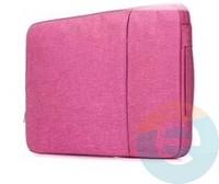 Конверт для ноутбука (13 Дюймов) тканевый на молнии розовый