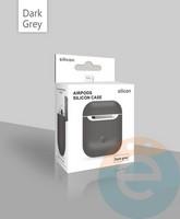 Чехол силиконовый для наушников Apple AirPods ультра-тонкий тёмно-серый