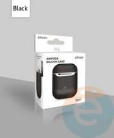 Чехол силиконовый для наушников Apple AirPods ультра-тонкий чёрный