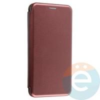 Чехол книжка боковой Fashion Case для Xiaomi Redmi 7 бордовый