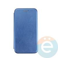 Чехол книжка боковой с силиконовой окантовкой для Huawei P30 Lite синий