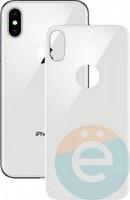Защитное стекло 5D с полной проклейкой на Apple iPhone X задняя часть белое