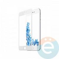 Защитное стекло 5D с полной проклейкой на Apple iPhone 6 Plus/6s Plus белое