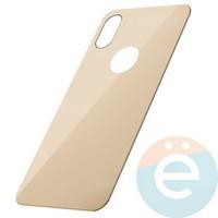 Защитное стекло 5D с полной проклейкой на Apple iPhone 7 Plus/8 Plus задняя часть бежевое