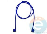Шнурок силиконовый для Apple Airpods тёмно-синий