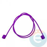 Шнурок силиконовый для Apple Airpods малиновый