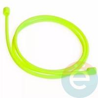 Шнурок силиконовый для Apple Airpods салатовый