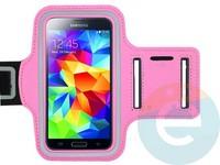 Спортивный чехол на руку для смартфона 5 дюймов розовый