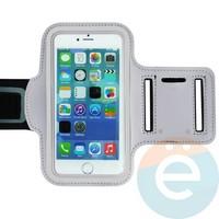 Спортивный чехол на руку для смартфона 5 дюймов серый
