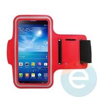 Спортивный чехол на руку для смартфона 5 дюймов красный