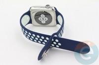 Силиконовый ремешок Nike для Apple Watch 38 mm сине-белый