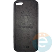 Накладка комбинированная DEER для iPhone 5/5s/SE чёрная