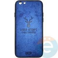 Накладка комбинированная DEER для iPhone 6/6s синяя