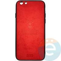 Накладка комбинированная DEER для iPhone 6/6s красная