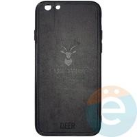 Накладка комбинированная DEER для iPhone 6/6s чёрная