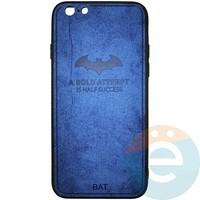 Накладка комбинированная BAT для iPhone 6/6s синяя