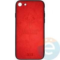 Накладка комбинированная DEER для iPhone 7/8 красная