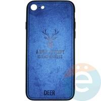 Накладка комбинированная DEER для iPhone 7/8 синяя