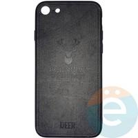 Накладка комбинированная DEER для iPhone 7/8 чёрная