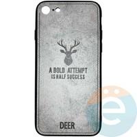 Накладка комбинированная DEER для iPhone 7/8 серая