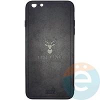Накладка комбинированная DEER для iPhone 6 Plus/6s Plus чёрная