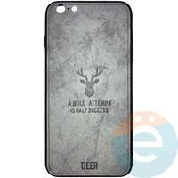 Накладка комбинированная DEER для iPhone 6 Plus/6s Plus серая