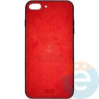 Накладка комбинированная DEER для iPhone 7 Plus/8 Plus красная