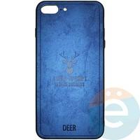 Накладка комбинированная DEER для iPhone 7 Plus/8 Plus синяя