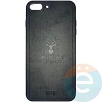 Накладка комбинированная DEER для iPhone 7 Plus/8 Plus чёрная