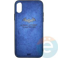 Накладка комбинированная BAT для iPhone X/Xs синяя