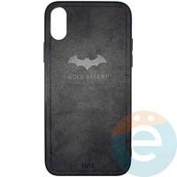 Накладка комбинированная BAT для iPhone X/Xs чёрная