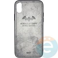 Накладка комбинированная BAT для iPhone X/Xs серая