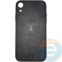 Накладка комбинированная DEER для iPhone XR чёрная