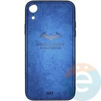 Накладка комбинированная BAT для iPhone XR синяя
