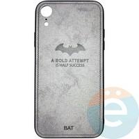 Накладка комбинированная BAT для iPhone XR серая