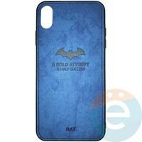 Накладка комбинированная BAT для iPhone Xs Max синяя