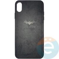 Накладка комбинированная BAT для iPhone Xs Max чёрная