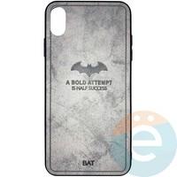 Накладка комбинированная BAT для iPhone Xs Max серая