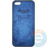 Накладка комбинированная BAT для iPhone 5/5s/SE синяя