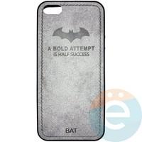 Накладка комбинированная BAT для iPhone 5/5s/SE серая