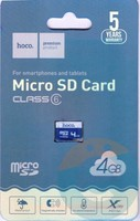 Карта памяти Hoco Micro SDHC 4GB