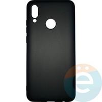 Накладка силиконовая Soft Touch ультра-тонкая на Huawei Honor 10 lite/P Smart 2019 чёрная